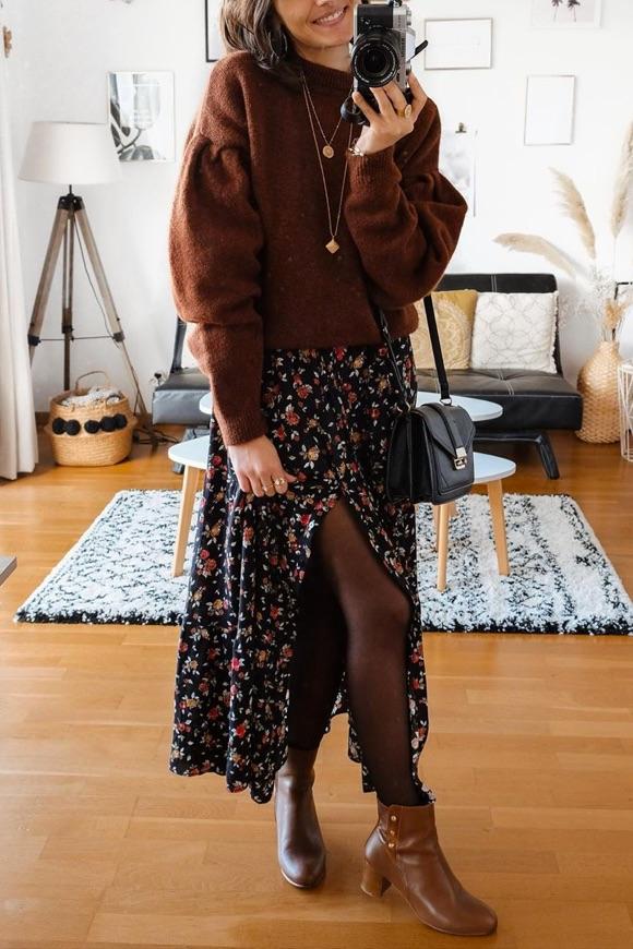 Avec quoi porter une robe longue en automne-hiver ?