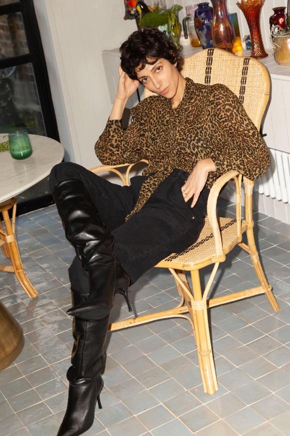 Blouse léopard idée tenue