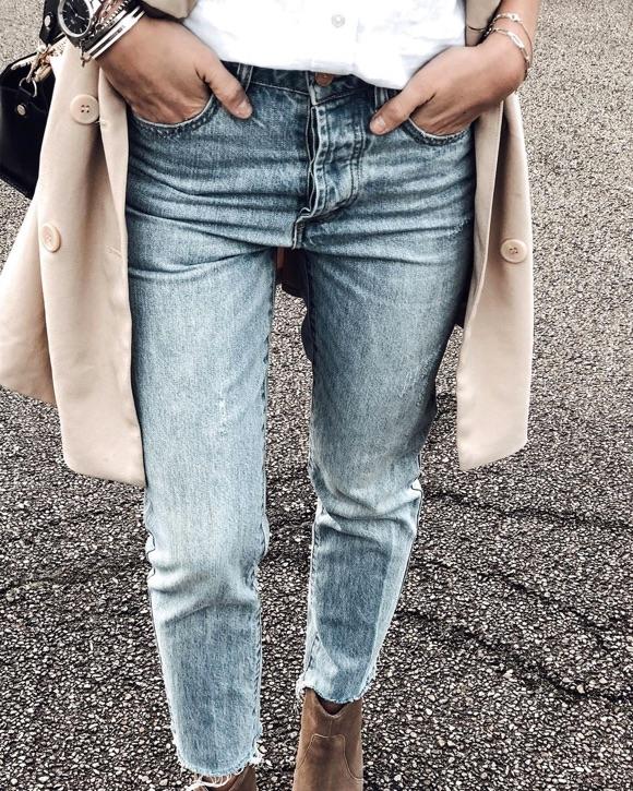 Jean taille haute style 90's