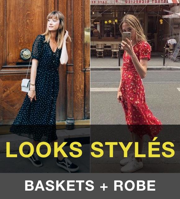 Comment porter des baskets avec une robe ?