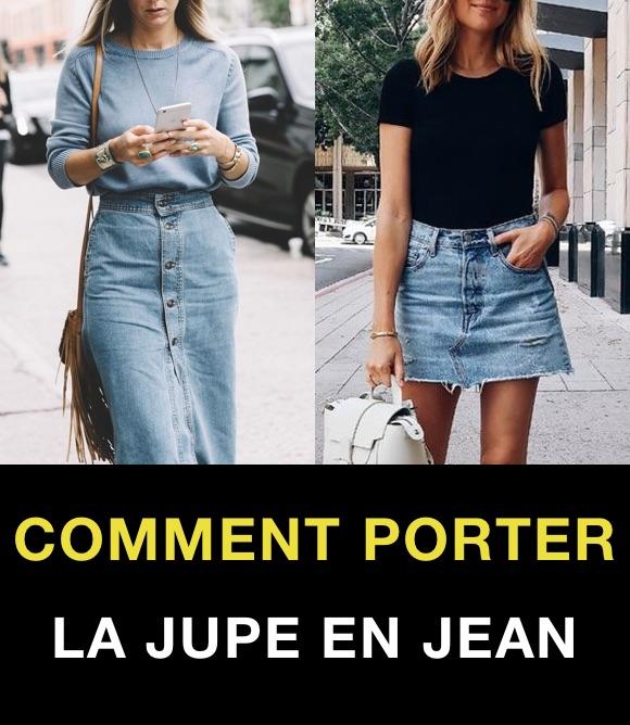 Jupe en jean : comment la porter ? 8 idées looks – Taaora