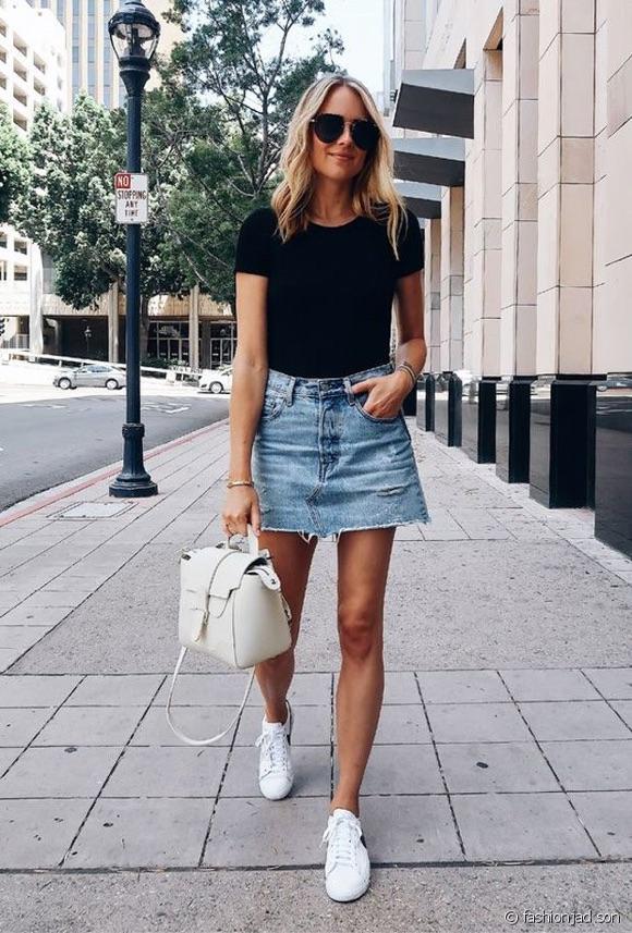Jupe en jean comment la porter ?