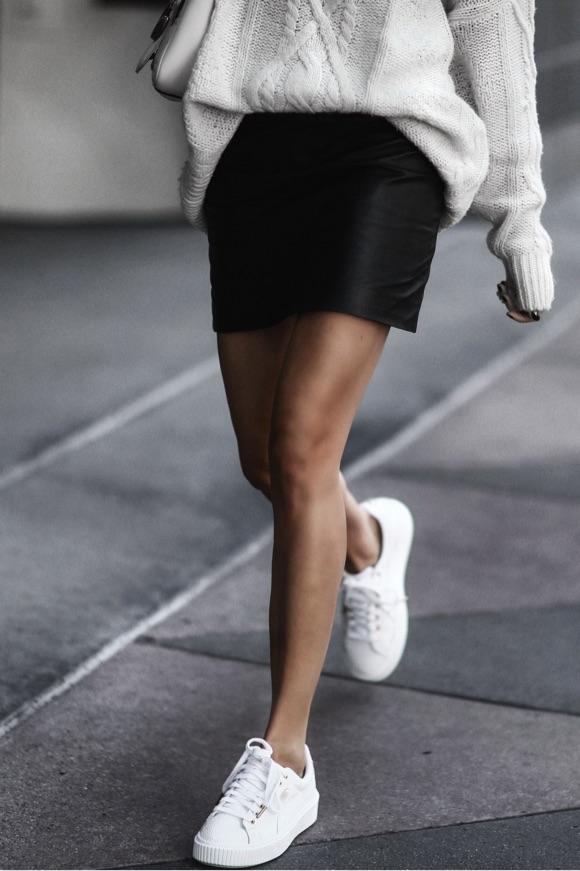 Baskets Puma avec une jupe