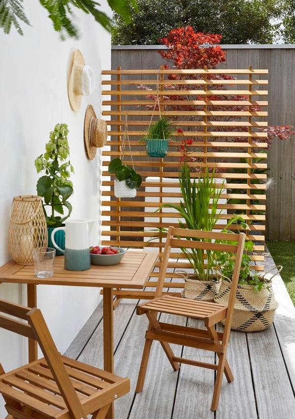 Claustra de jardin en bois