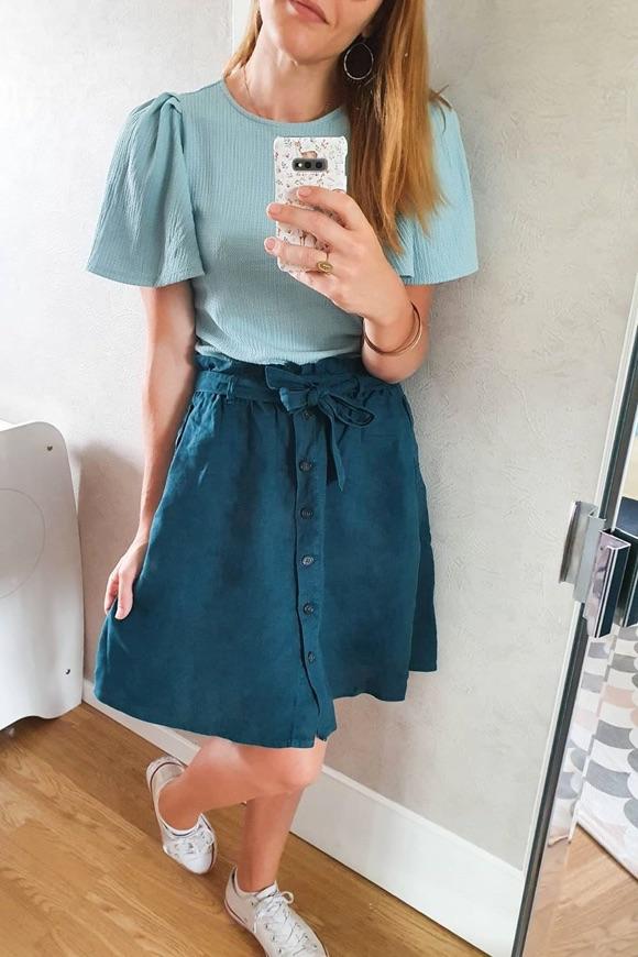 Comment porter jupe bleu canard