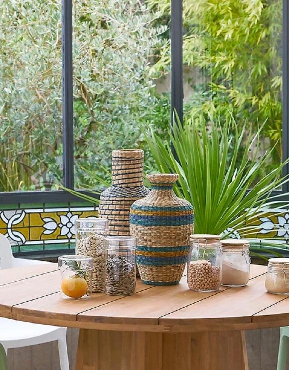 Décoration vases en bambou