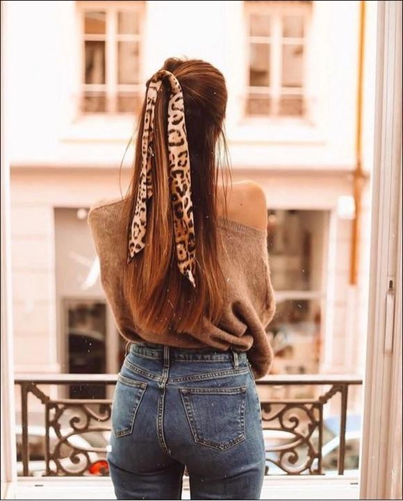 coiffure foulard femme