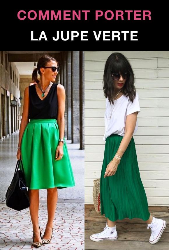 Que porter avec jupe verte ? Tenue été