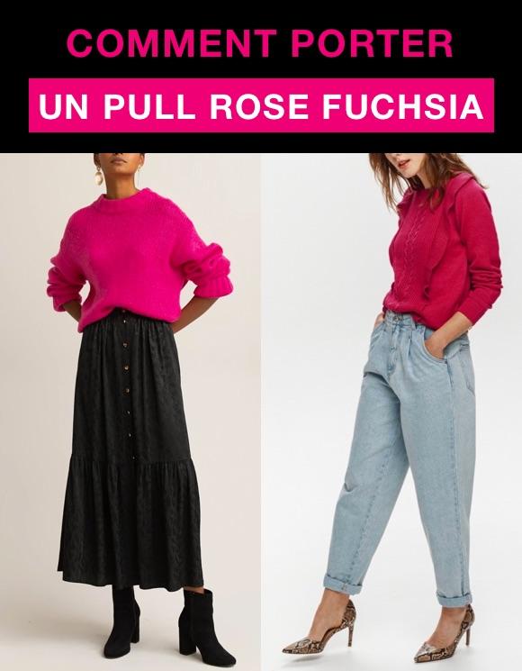 Comment porter pull rose fuchsia ?