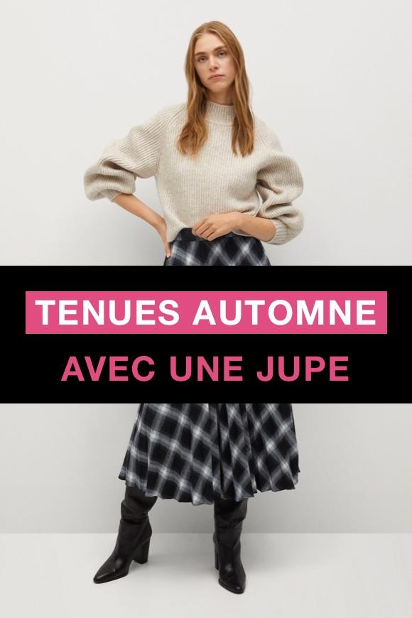 Tenue automne jupe femme