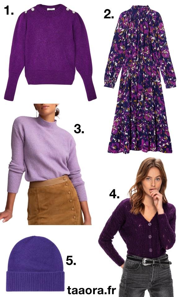 Violet couleur tendance