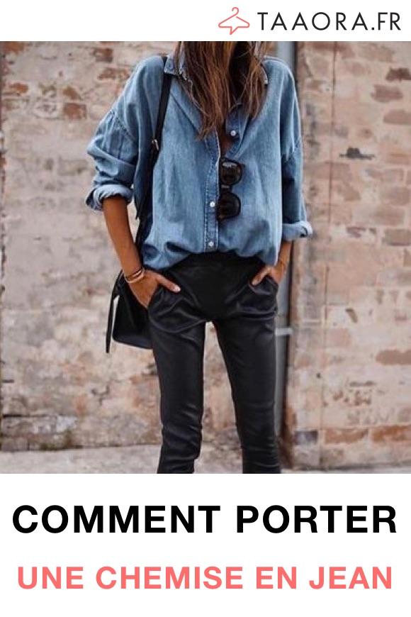 Comment porter chemise en jean femme ?