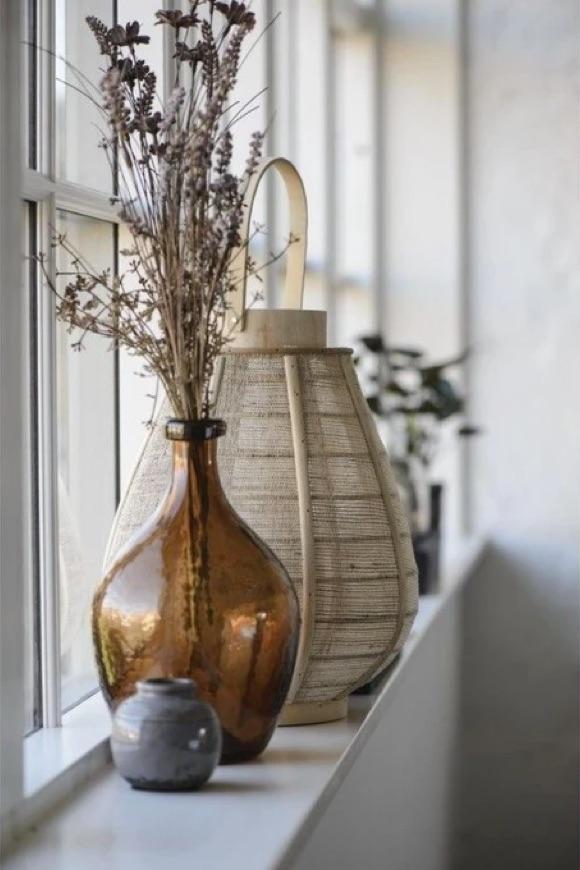 Vase Dame-Jeanne verre marron