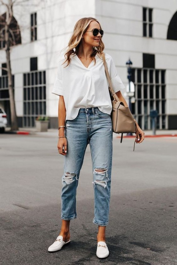 Comment porter chemise blanche femme