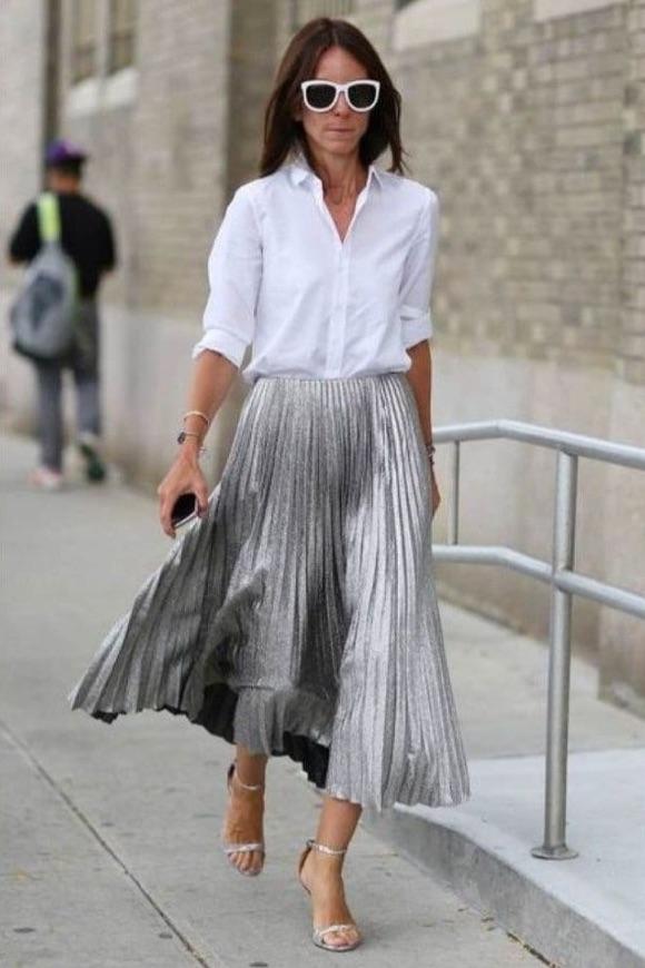 Tenue chemise blanche femme