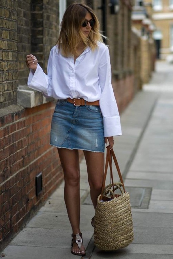 Chemise blanche look été