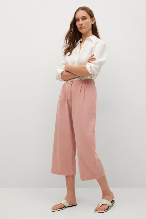Jupe-culotte rose idée look