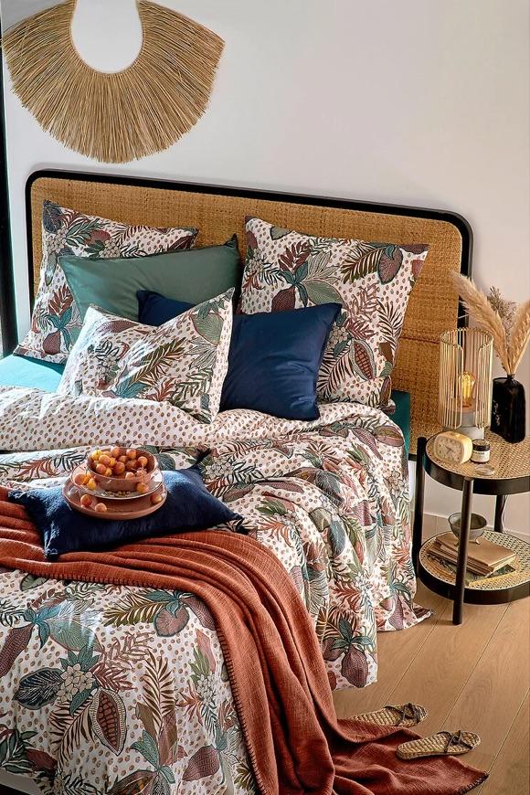 Tête de lit rotin tressé
