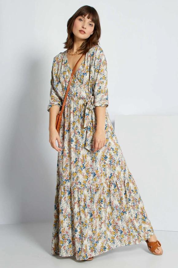 Robe bohème longue avec manches longues