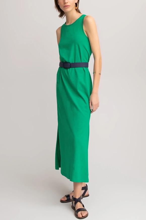 Robe longue verte femme