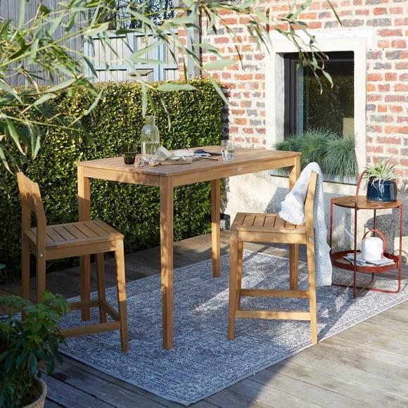 Table bar de jardin chaises de bar