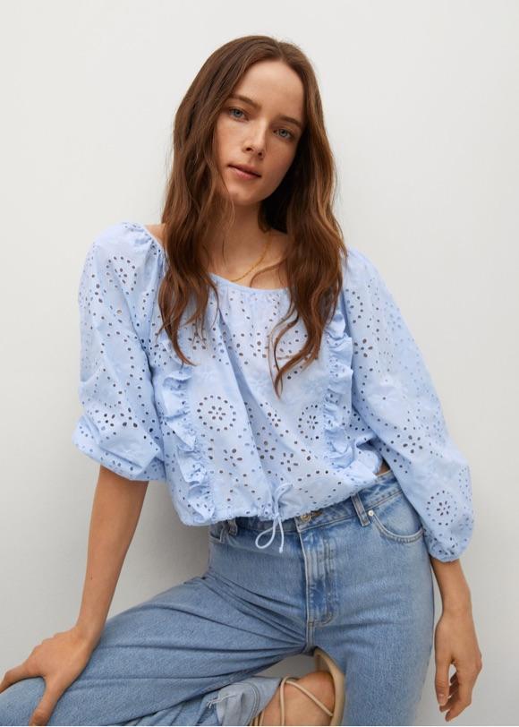 Avec quoi mettre une blouse bleu clair ?