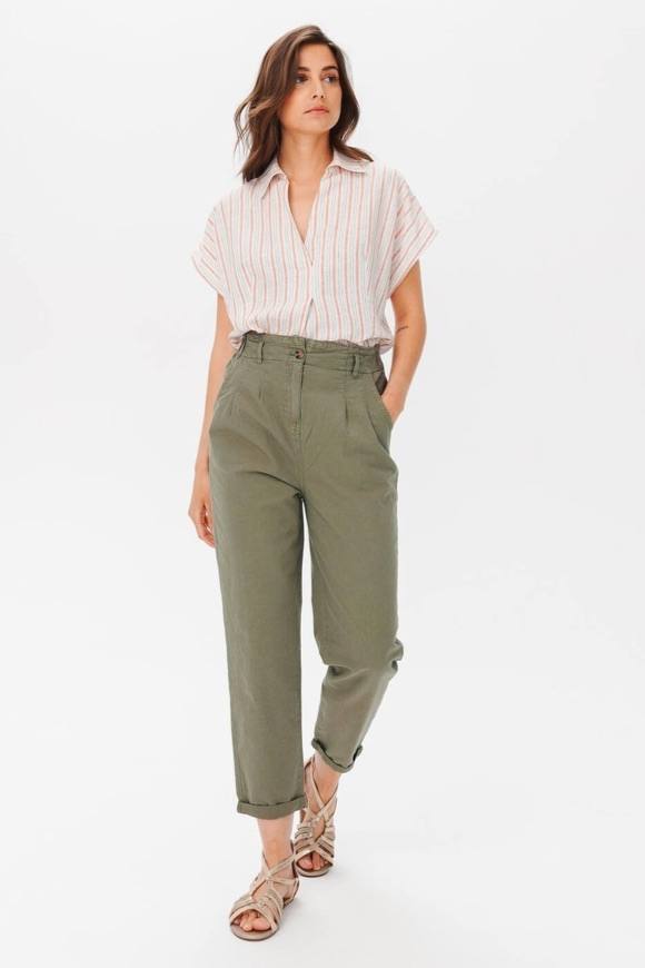 Comment porter pantalon en lin kaki