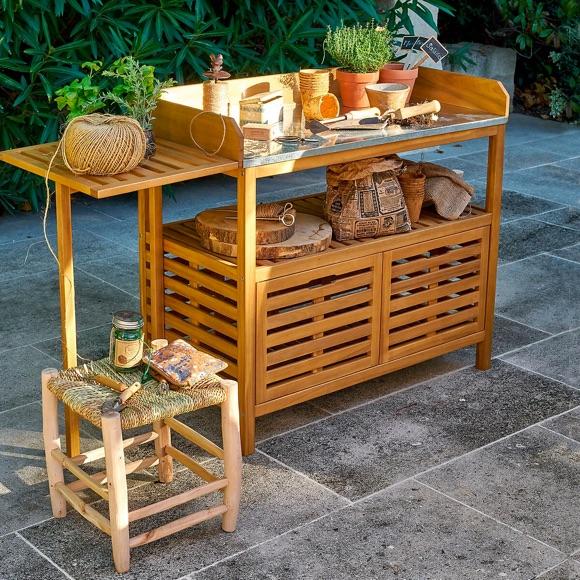 Table jardinage bois acacia